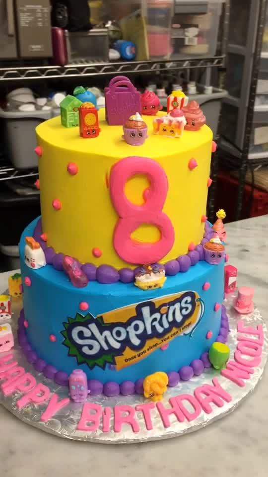 Shopkins Join The Party Birthday Cake